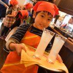 鶴舞の南欧カフェで子どもお仕事体験
