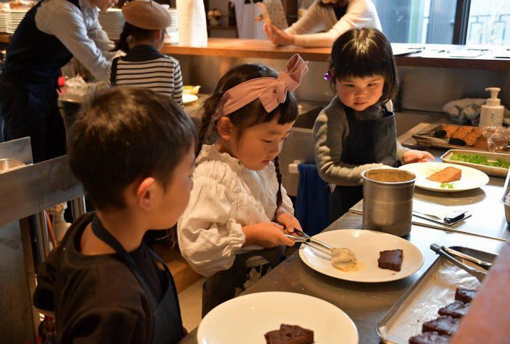 星ヶ丘のカフェで子どもお仕事体験